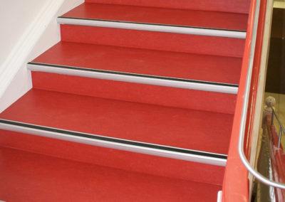 Linoleum Treppenaufgang